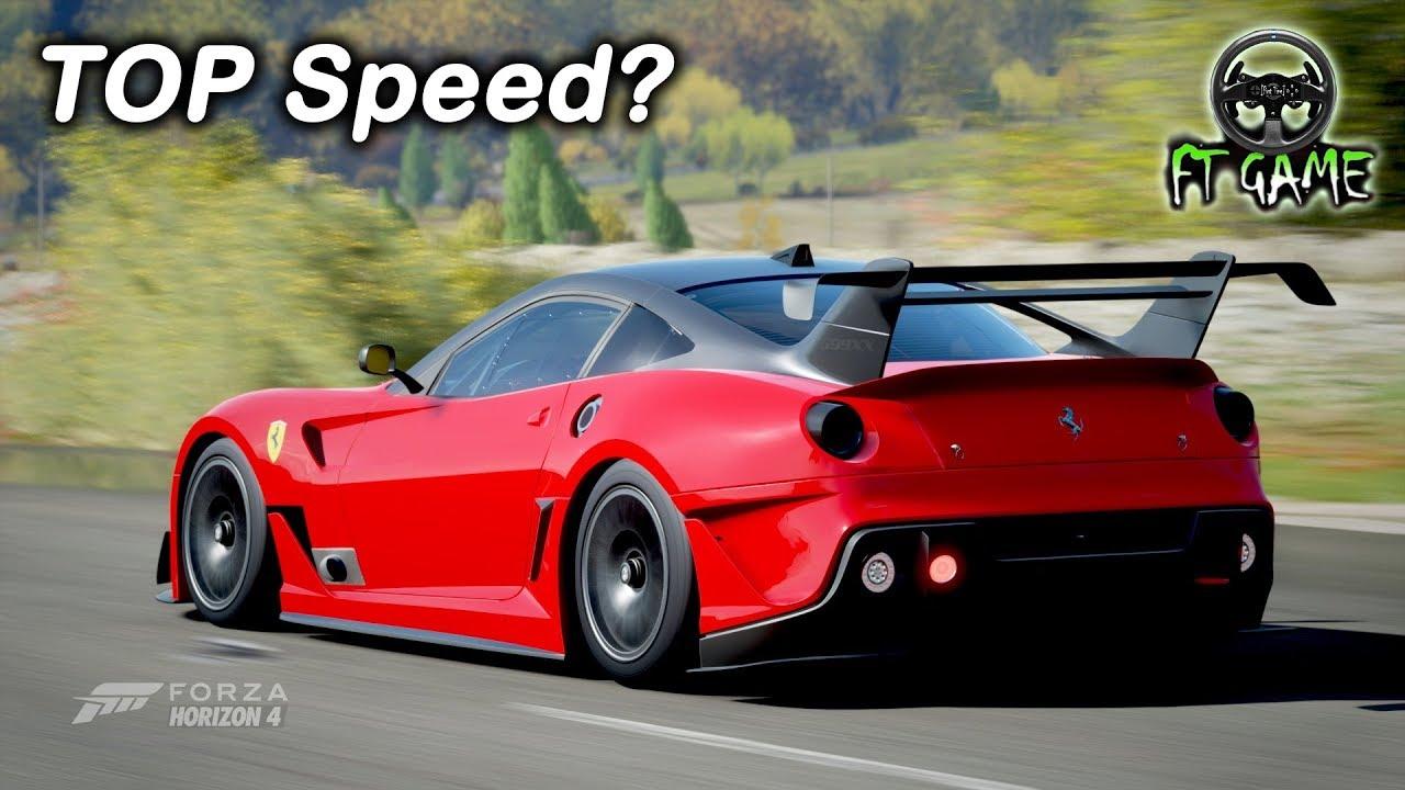 Ferrari 599xx Evolution Gameplay And Top Speed Forza Horizon 4 Youtube