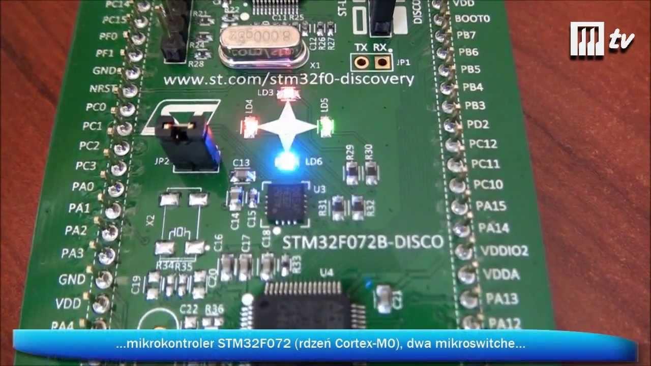 STM32F072B-DISCO - zestaw uruchomieniowy z mikrokontrolerem STM32F072