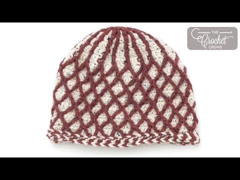 How to Crochet Textured Lattice Hat