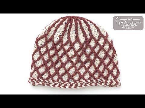 32ca59b7cf3 Crochet Textured Lattice Hat - YouTube