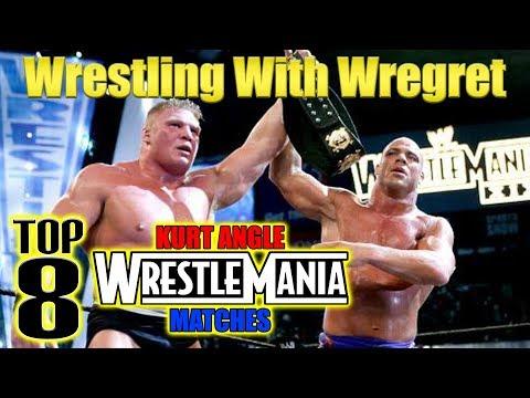 Top 8 Kurt Angle Wrestlemania Matches | Wrestling With Wregret