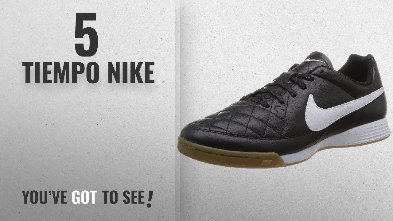 38f84b1092164 Top 10 Tiempo Nike [2018]: Nike Men's Tiempo Genio Leather IC Black/White  Indoor Soccer Shoe 9.5 Men