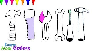 Baby Repair Tools Set Toys Coloring Pages For Kids