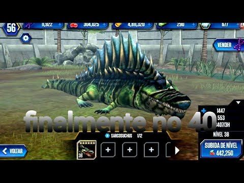 Jurassic World O Jogo Sarcosuchus Lvl 40 Finalmente Youtube