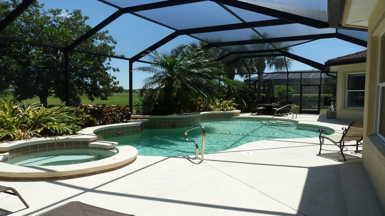 Lely vacation rental pool home in mustang island naples for Florida pool homes