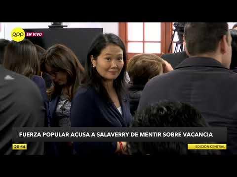 Daniel Salaverry afirma que Keiko Fujimori le dijo que se preparara para convocar a elecciones