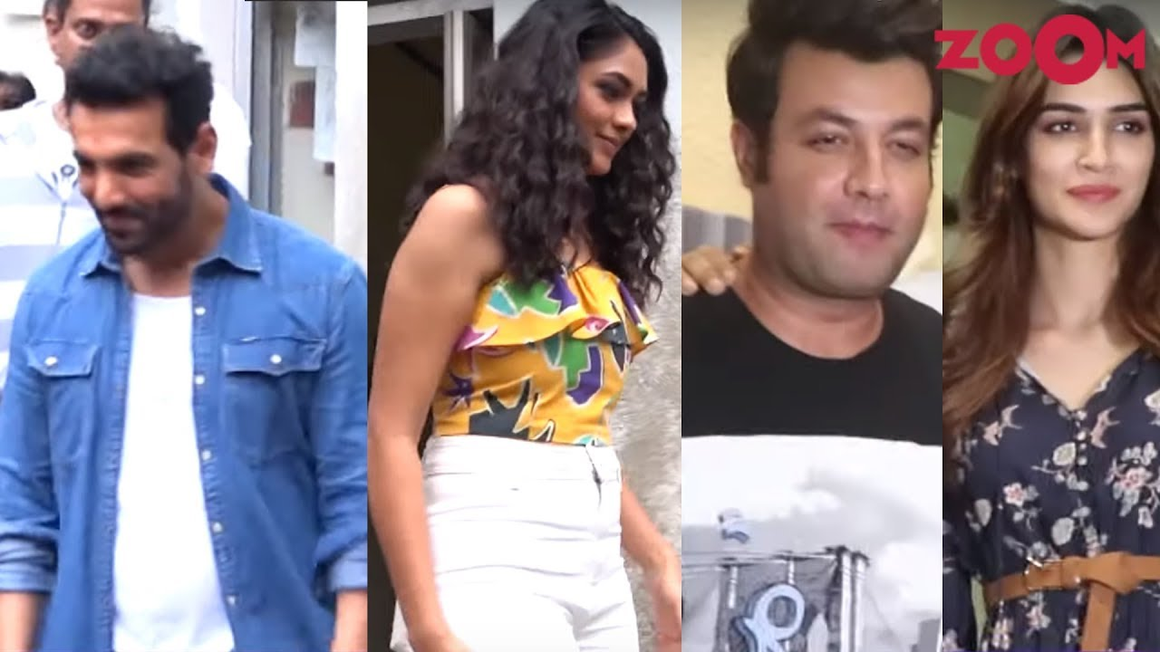 Batla House cast promote their film | Kriti Sanon and Varun Sharma spotted together and more