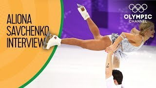 "Aliona Savchenko: ""Usain Bolt gave me a lot of energy!""  
