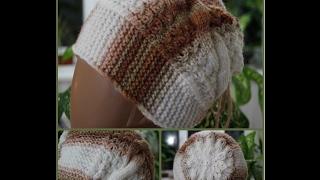 Как связать шапочку от ободка