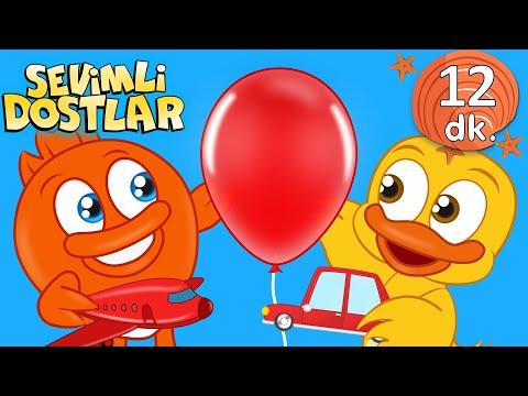 Kırmızı balonum ve Sevimli Dostlar Bebek Şarkıları | Kirmizi Çocuk şarkıları | Nursery Rhymes