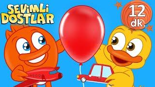Kırmızı balonum ve Sevimli Dostlar Bebek Şarkıları  Kirmizi Çocuk şarkıları  Nursery Rhymes