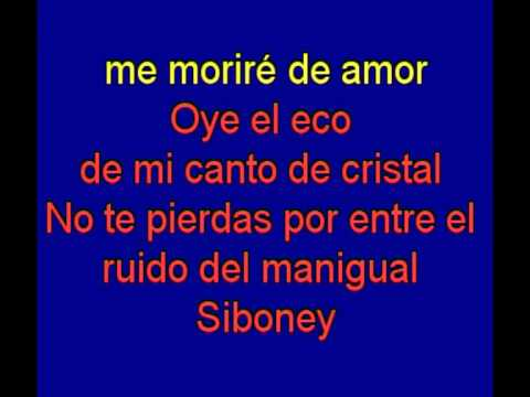 Siboney  - Eliades Ochoa -  karaoke   Tony Ginzo