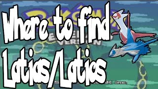 Where to get Latias/Latios on Pokemon Emerald