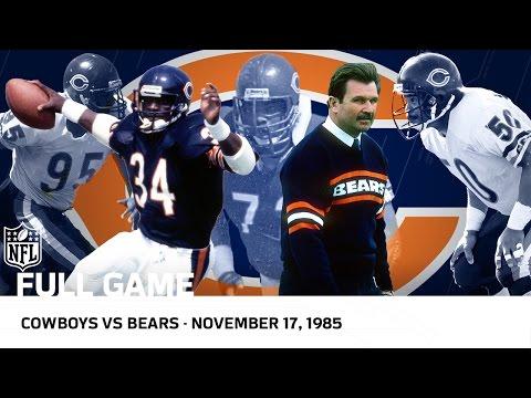 '85 Bears Dominate Cowboys | Bears vs. Cowboys (Week 11, 1985) | NFL Full Game