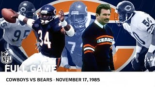 '85 Bears Dominate Cowboys | Bears vs. Cowboys (Week 11, 1985) | NFL Full Game