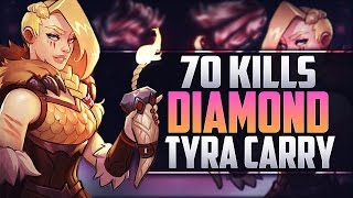 [Paladins] 70 KILLS MASTER TYRA?!? - Diamond Gameplay