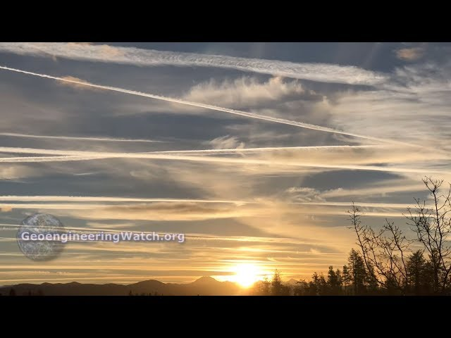 Dimming The Sun, Climate Engineering Over Northern California ( Geoengineering Watch )