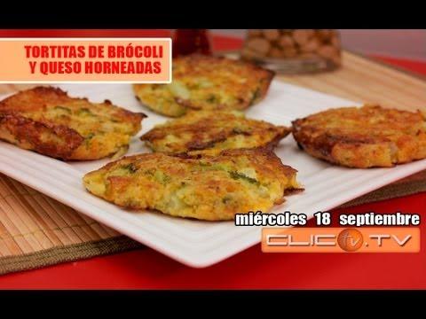 TORTITAS DE BRÓCOLI Y QUESO HORNEADAS