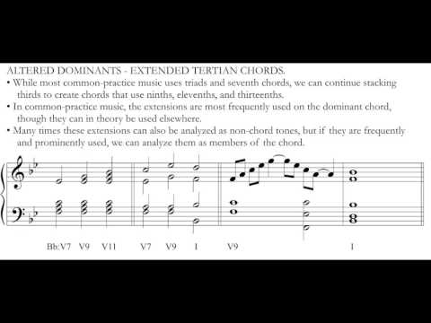 Music Theory: Altered V & Common-Tone Diminished 7