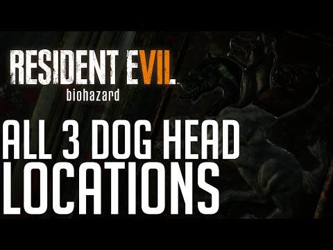 Resident Evil 7 ALL 3 DOG HEAD LOCATIONS (HOW TO OPEN THE EXIT)