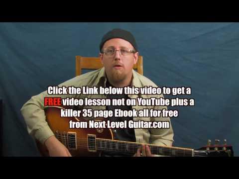 Learn Van Morrison inspired lead guitar over chord vamp soloing Moondance style jam lesson