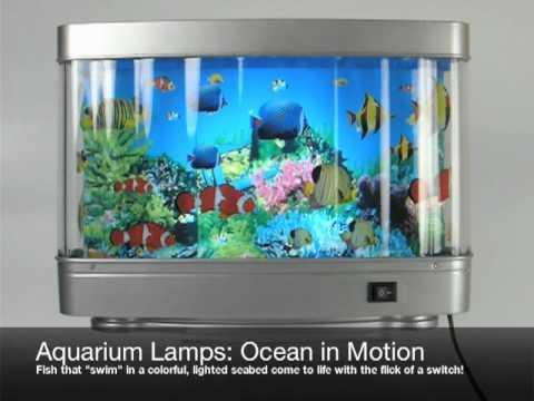 #1500 Large Aquarium Lamp With Fish
