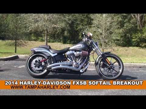 New 2014 Harley Davidson FXSB Softail Breakout Motorcycles for Sale - Ocala, FL