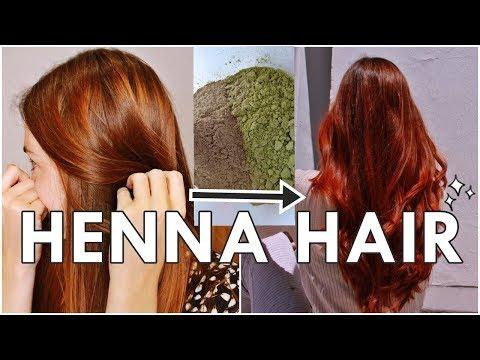 Henna Pura En El Cabello, Coloración Natural Vegetal | Lawsonia | Resultados Antes Y Después