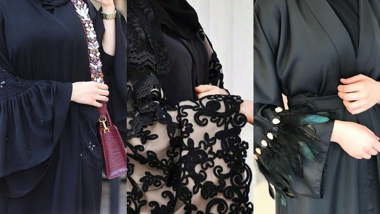 Beautiful Abaya Designing Patterns 2019/Arabic Stylish Abaya Designs,Embroidered Abaya
