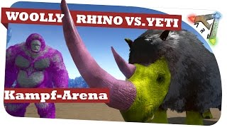 Ark Survivale Evolved: Woolly Rhino vs. Yeti vs. BigFoot Kampf Arena