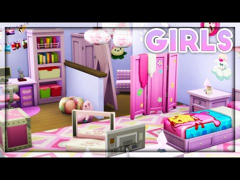The Sims 4 | Room Build | Kids Room Stuff // Girls Room