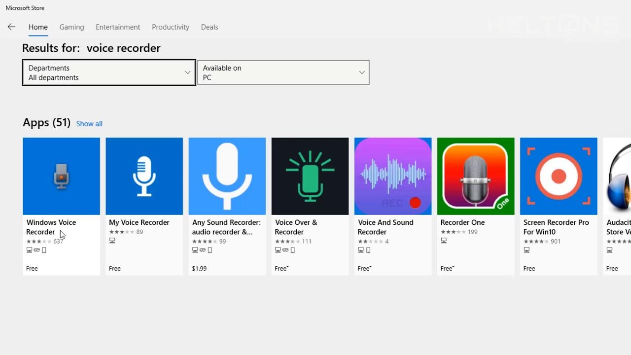 Chỉ dẫn truy tìm Cập Và dùng ứng dụng thu thanh Trong hệ điều hành win 10