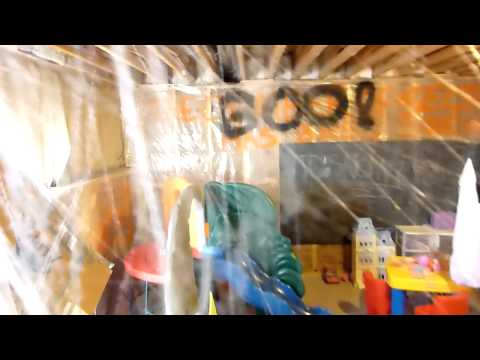 Sean's how to build make a Harry Potter halloween haunted maze in your basement #2