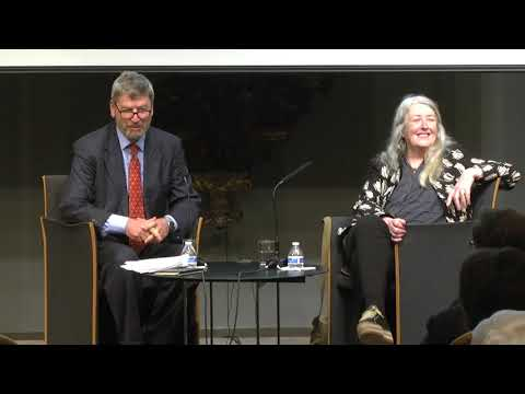 Professor Mary Beard At The American University Of Rome's Event: 'Why Ancient Rome Matters'
