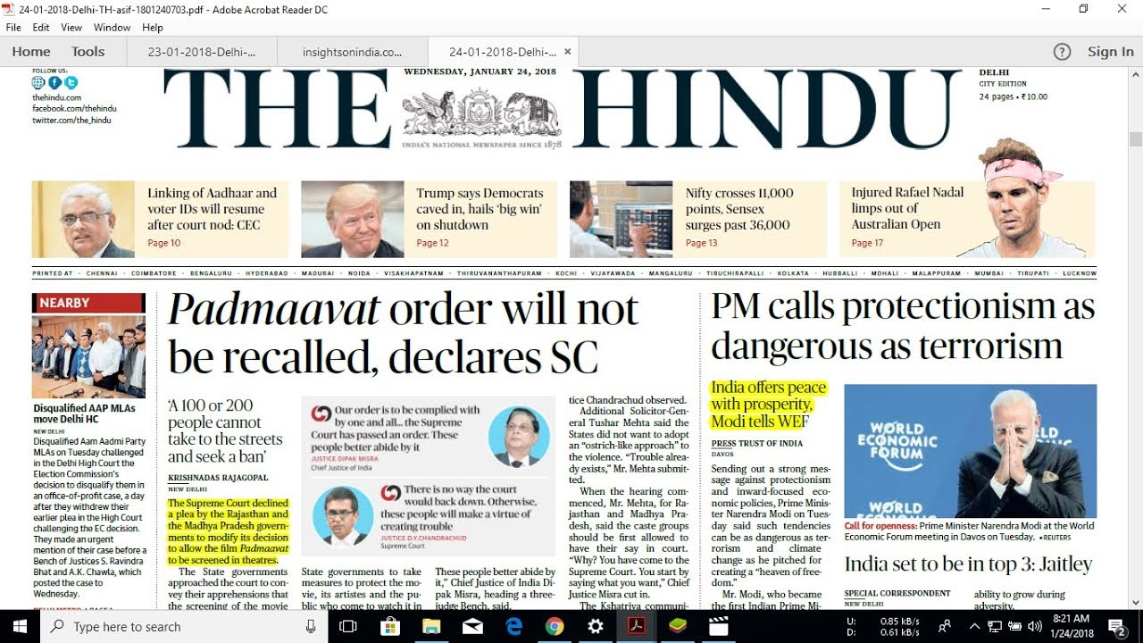 the hindu paper The hindu - click here to download the indian express - click here to download dainik jagran - click here to download jansatta.