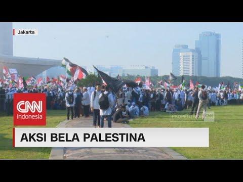 Massa Aksi Bela Palestina di Istiqlal Bergerak ke Monas