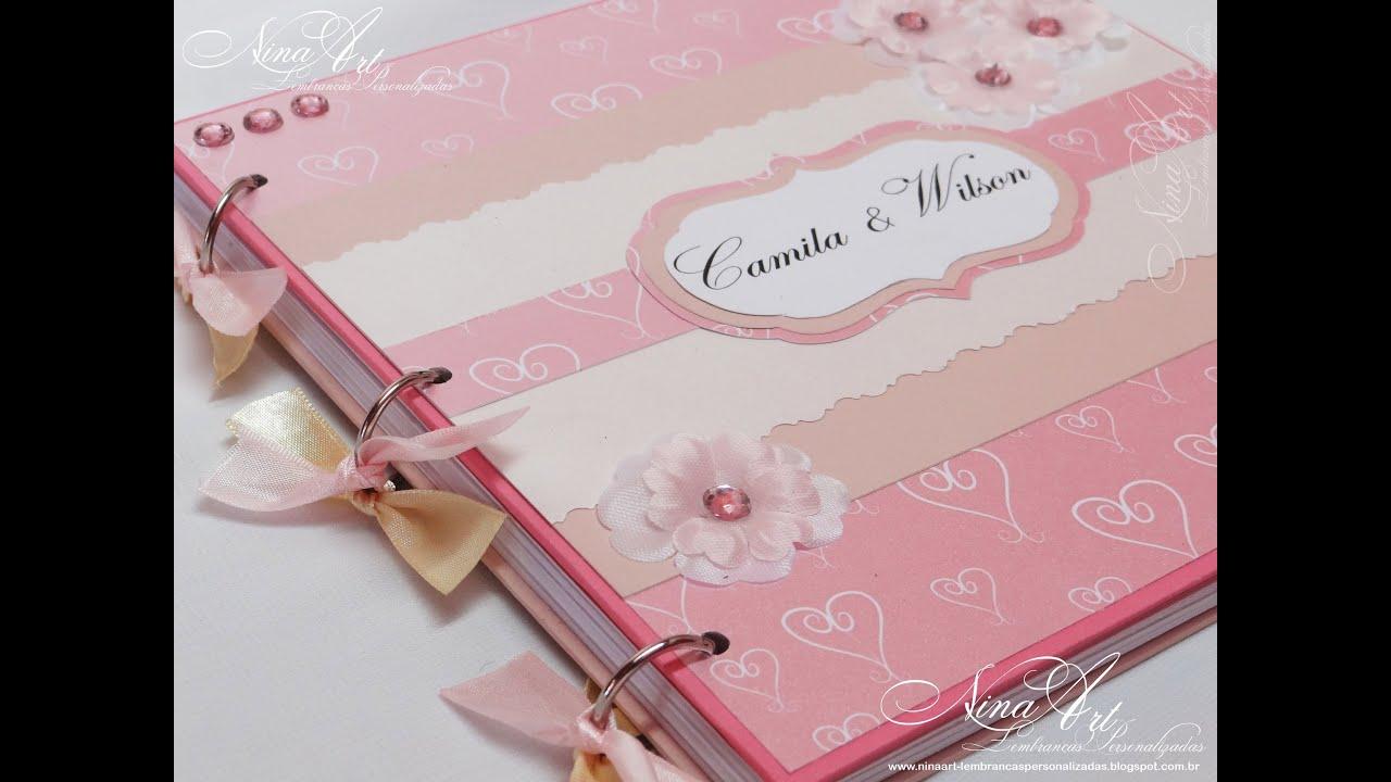 Livro De Assinatura/Mensagem Para Casamento