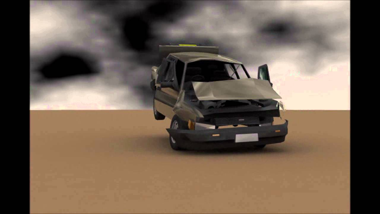 Car Crash Animation - YouTube
