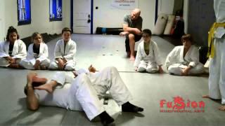 Children Jiu-Jitsu Class: Push Up, Back Mount, Armbar (jūji-gatame/十字固) - Anti Bully Program