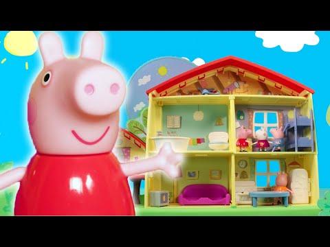Peppa Pig en Español 👣 Misión huellas de lodo 👣 Juguetes   Pepa la cerdita   Toy Play
