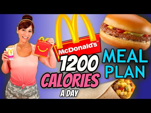 I'm Eating ONLY McDonald's For FAST WEIGHT LOSS (MY EXACT 1200 CALORIE A DAY MEAL PLAN)