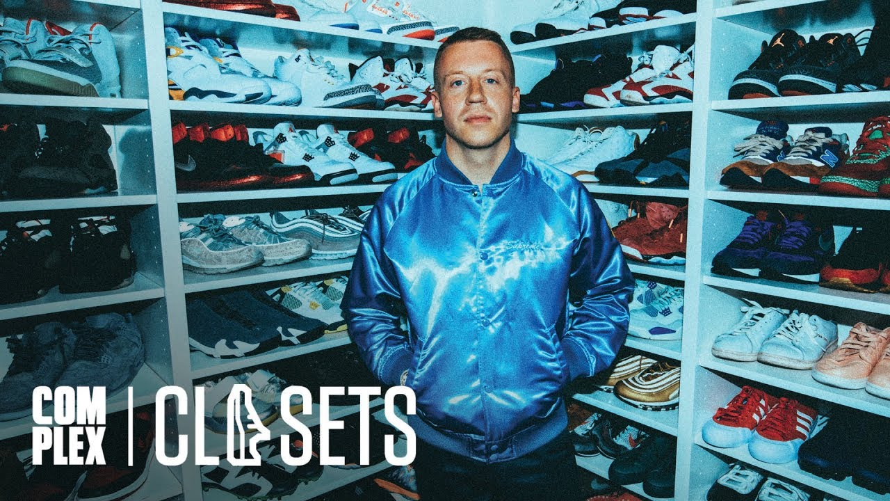 best sneakers 38e01 b08a0 Macklemore Shows Off His Never-Before-Seen Jordan Collabs On Complex Closets