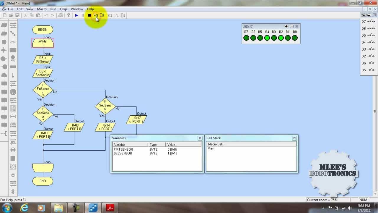 Flowcode beginners tutorial -2 flashing an led youtube.