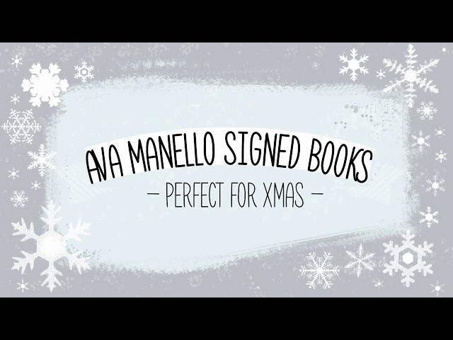 Xmas Signed Books from Ava Manello
