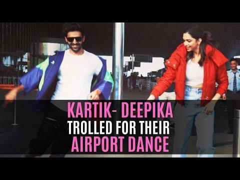 Deepika Padukone And Kartik Aaryan Trolled For Their Airport Dance Stunt | SpotboyE Mp3