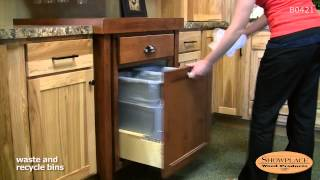 Waste and recycle bins; pull-out rack - Showplace kitchen convenience accessories