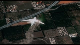 257 martyrs, simulation 3D du crash de l'avion militaire iliouchine il-76 à Boufarik