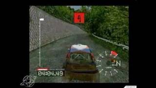 Colin McRae Rally 3 PC Games Gameplay - Working the