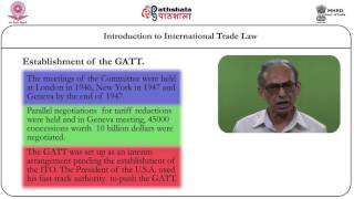 Introduction to international trade law (LAW)