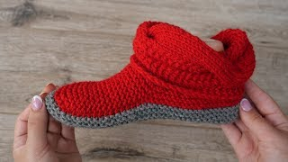 Сапожки с объёмной косой спицами | Red Booties knitting patterns